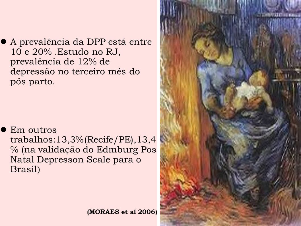 A prevalência da DPP está entre 10 e 20%