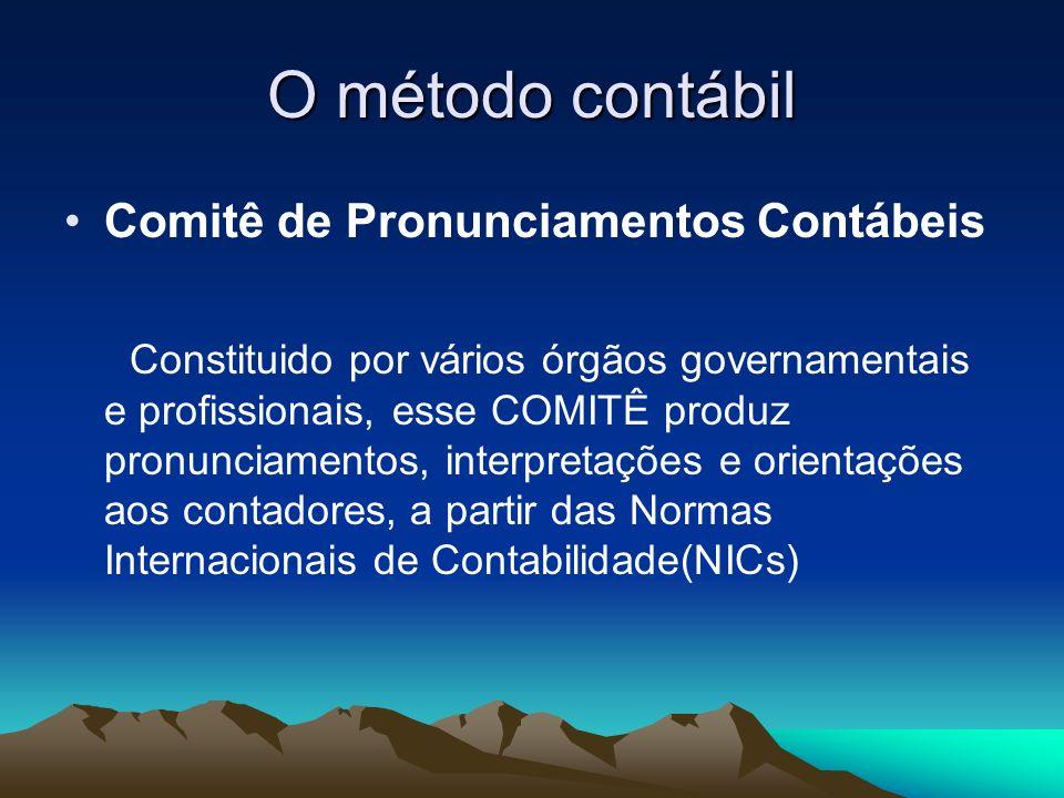 O método contábil Comitê de Pronunciamentos Contábeis