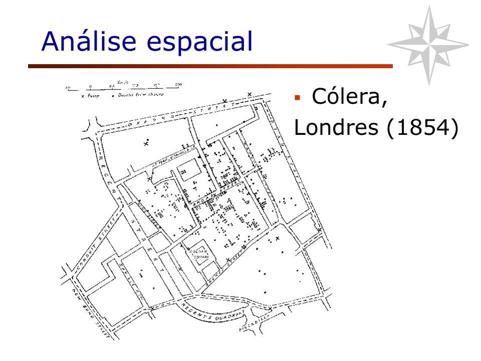 Análise espacial Cólera, Londres (1854)
