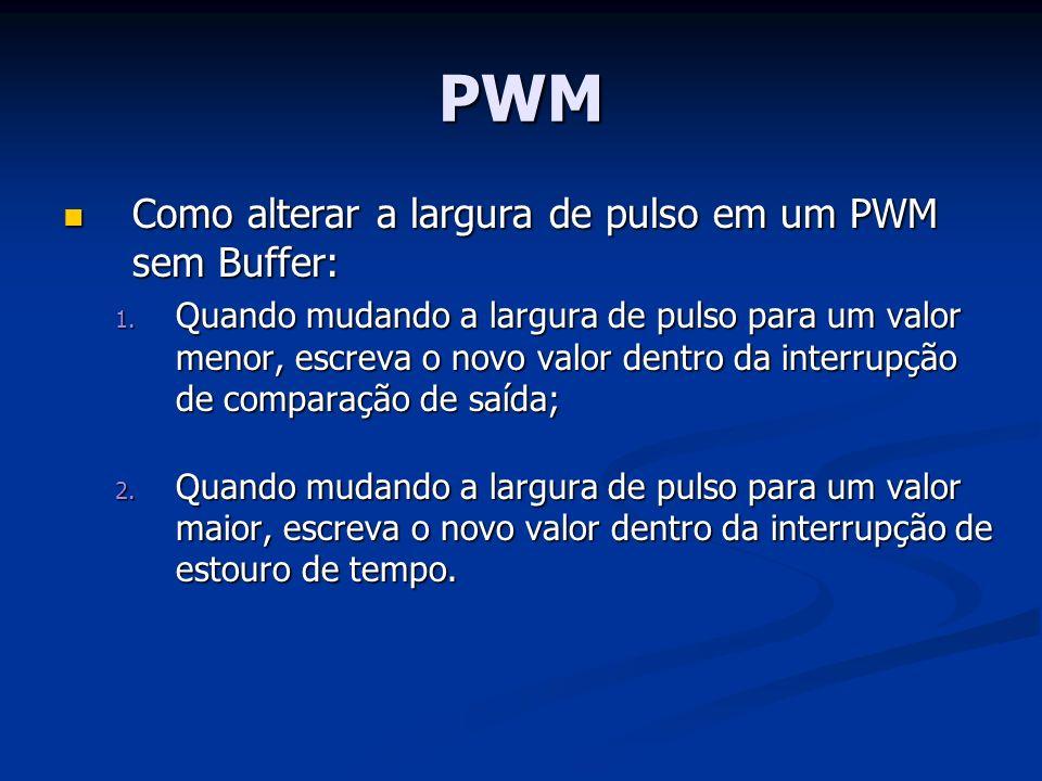 PWM Como alterar a largura de pulso em um PWM sem Buffer: