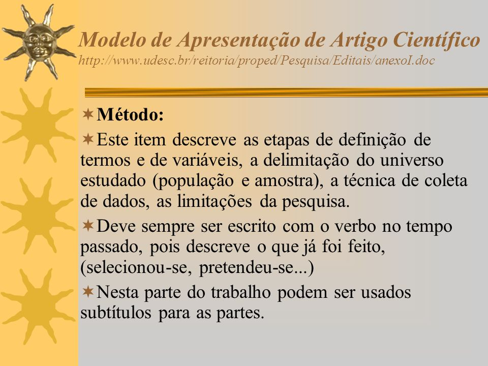 Modelo de Apresentação de Artigo Científico http://www. udesc