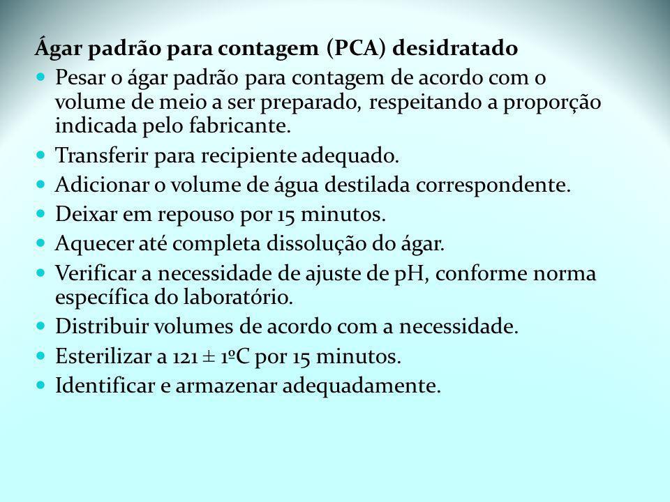Ágar padrão para contagem (PCA) desidratado