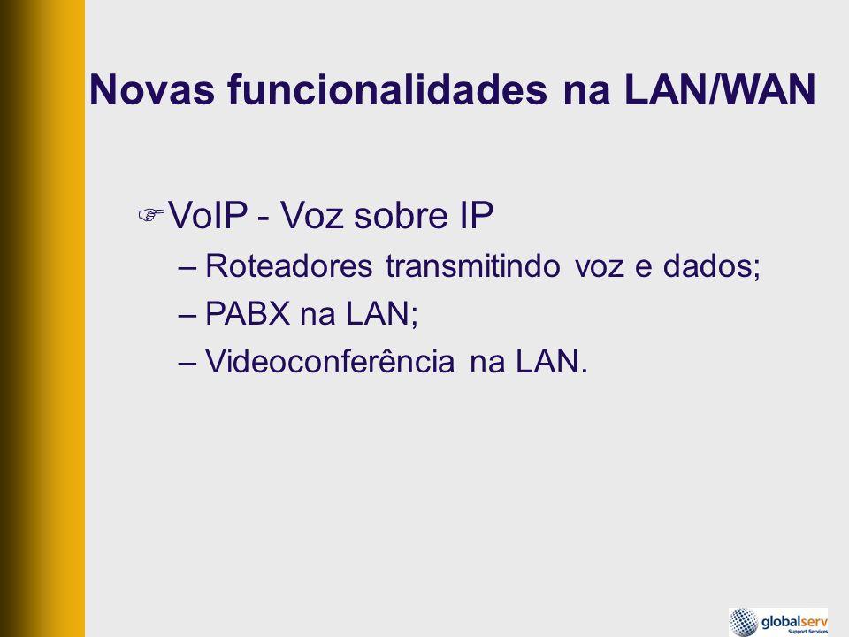 Novas funcionalidades na LAN/WAN