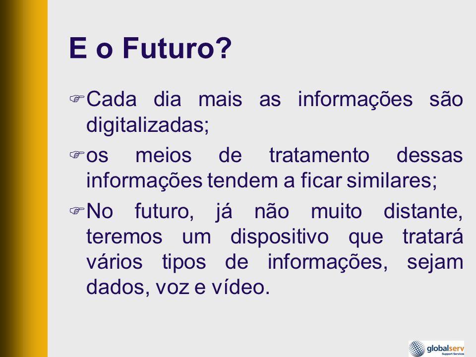 E o Futuro Cada dia mais as informações são digitalizadas;
