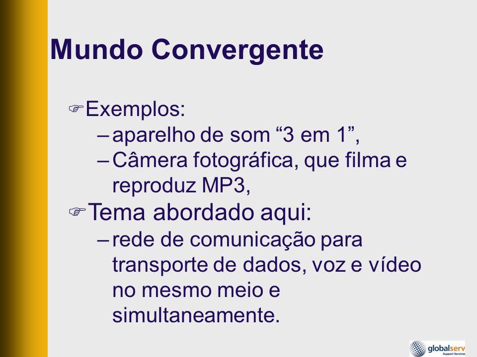 Mundo Convergente Tema abordado aqui: Exemplos: