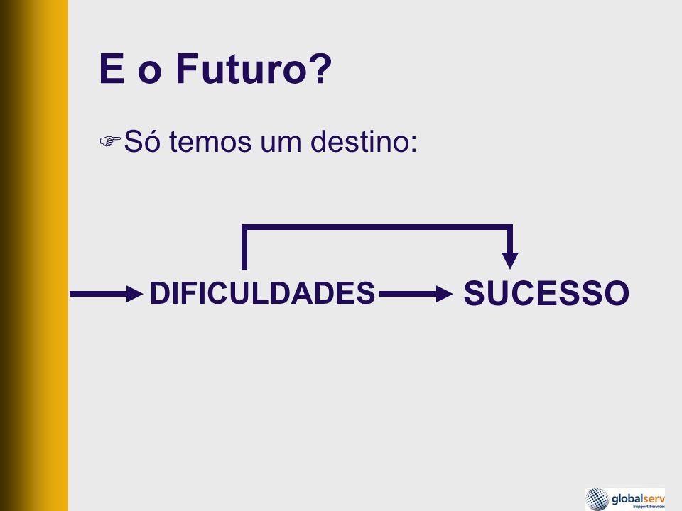 E o Futuro Só temos um destino: DIFICULDADES SUCESSO