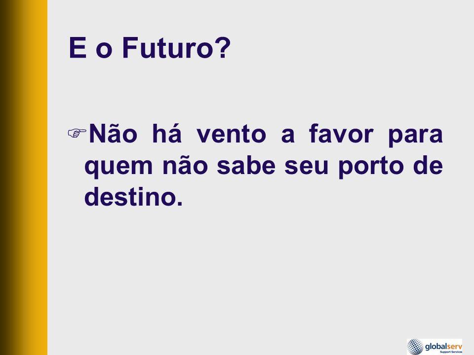 E o Futuro Não há vento a favor para quem não sabe seu porto de destino.
