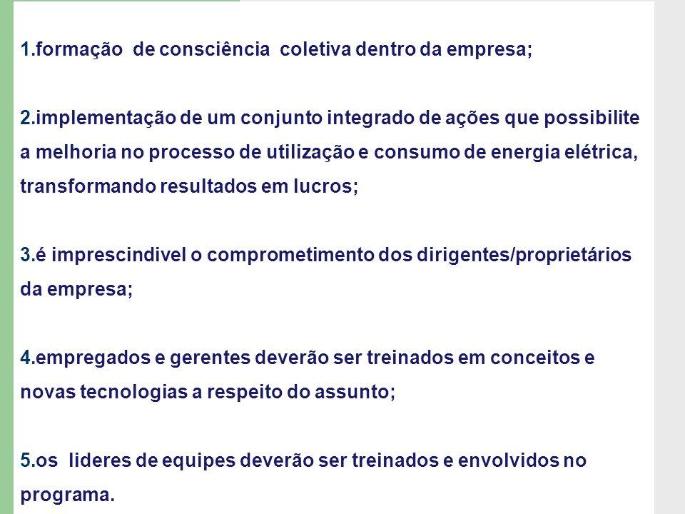 formação de consciência coletiva dentro da empresa;