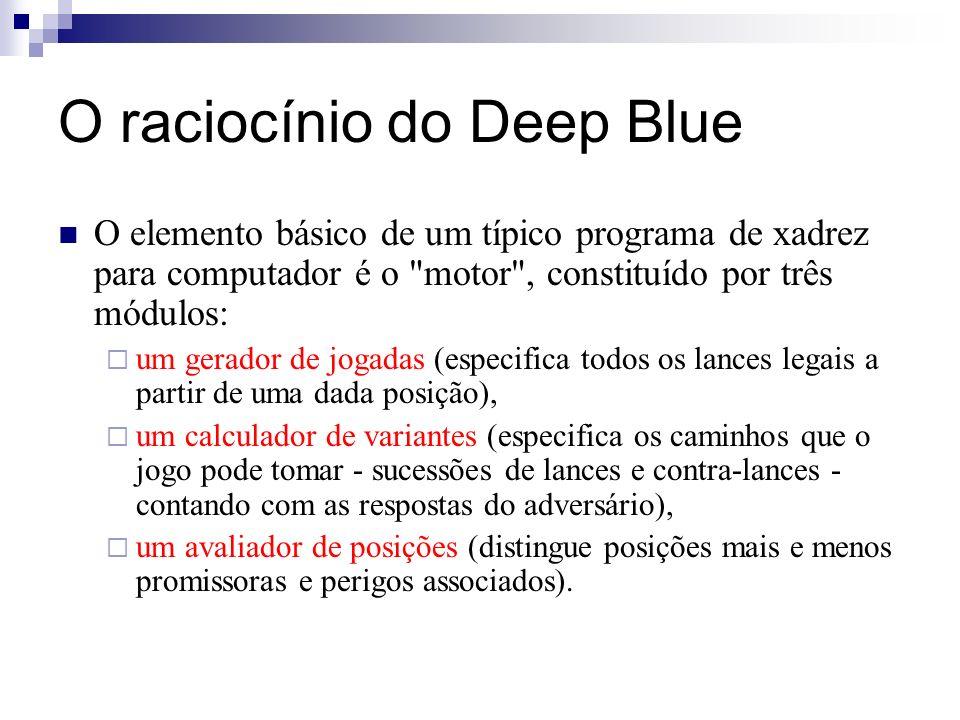 O raciocínio do Deep Blue