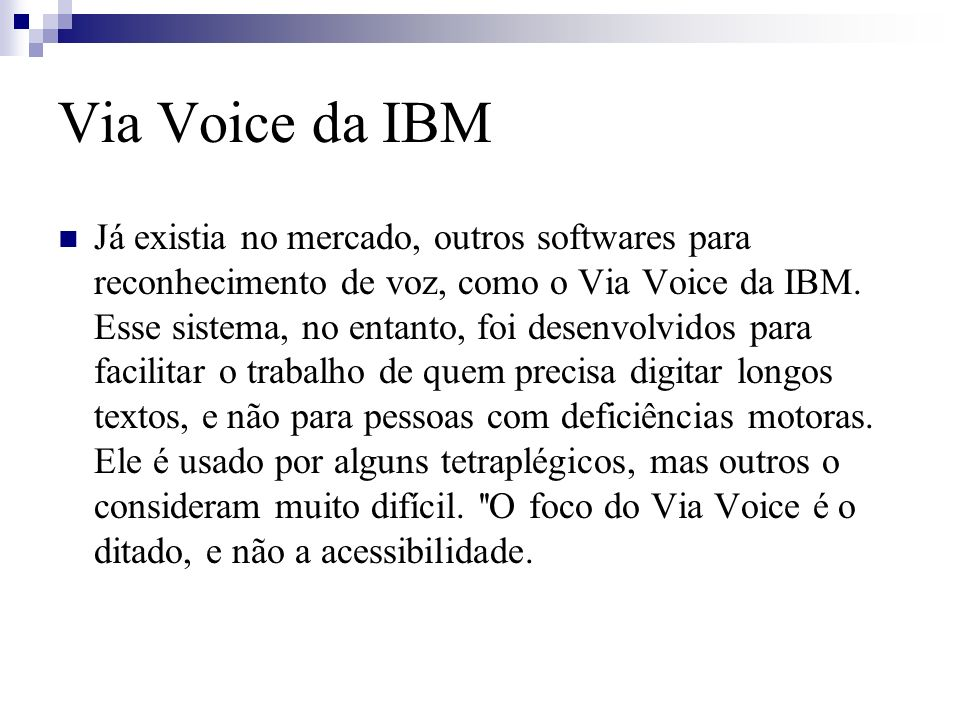Via Voice da IBM