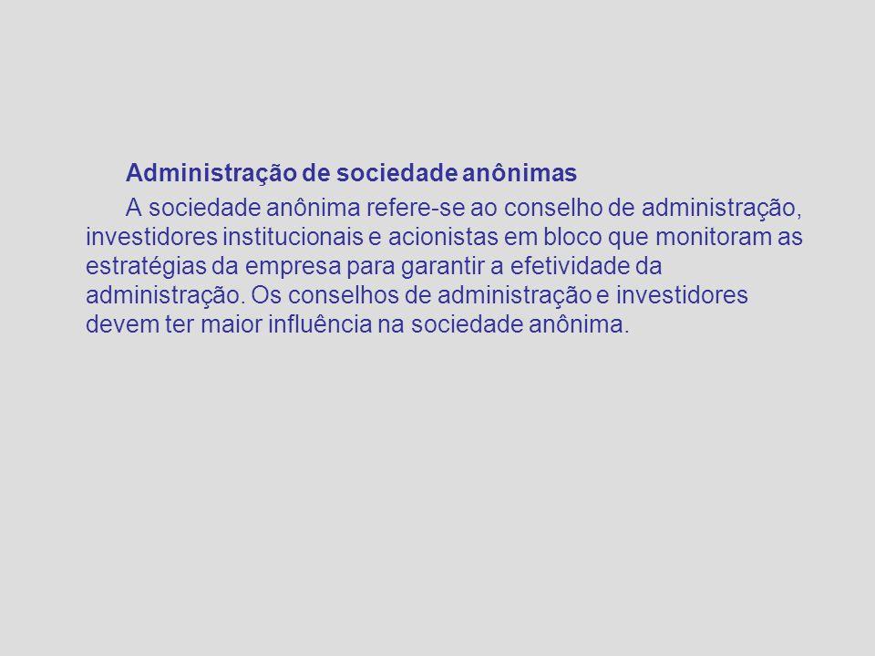 Administração de sociedade anônimas
