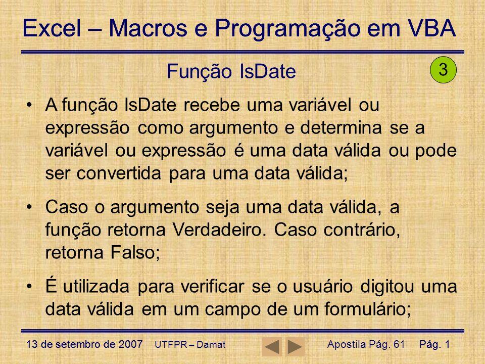 Função IsDate 3.