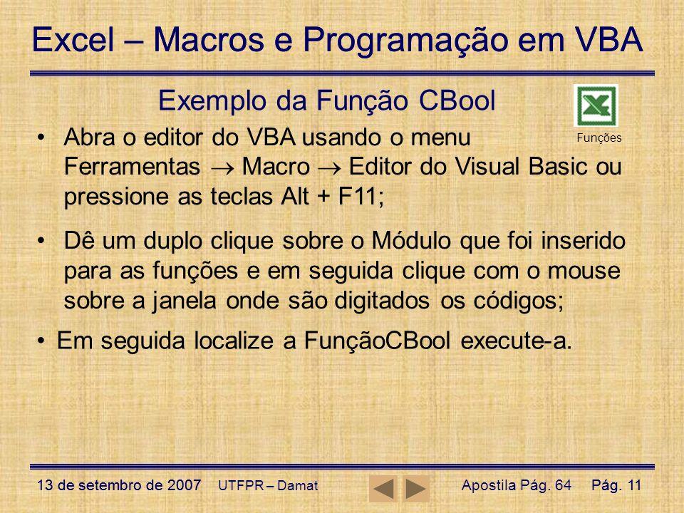 Exemplo da Função CBool