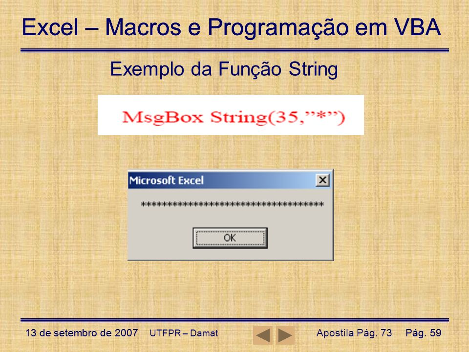 Exemplo da Função String
