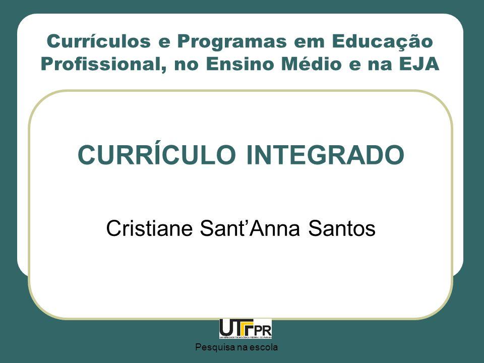 CURRÍCULO INTEGRADO Cristiane Sant'Anna Santos