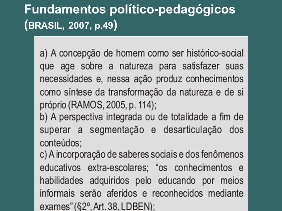 Fundamentos político-pedagógicos