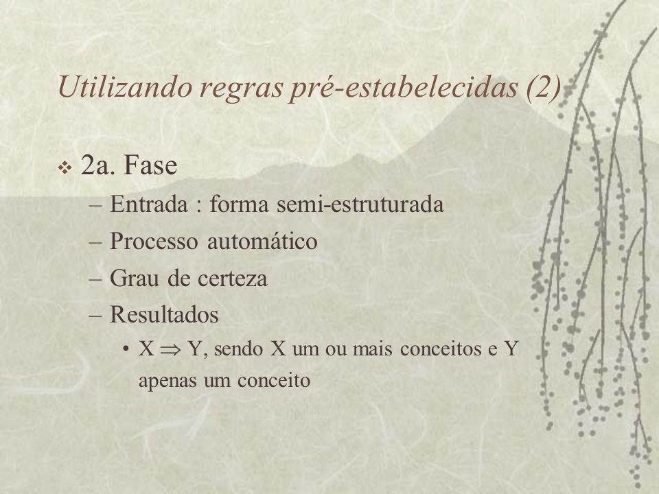 Utilizando regras pré-estabelecidas (2)