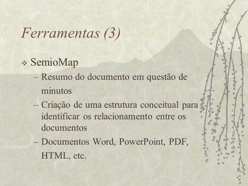 Ferramentas (3) SemioMap Resumo do documento em questão de minutos