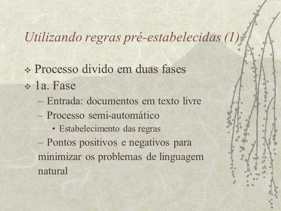 Utilizando regras pré-estabelecidas (1)