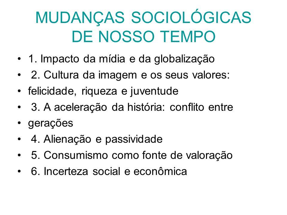 MUDANÇAS SOCIOLÓGICAS DE NOSSO TEMPO