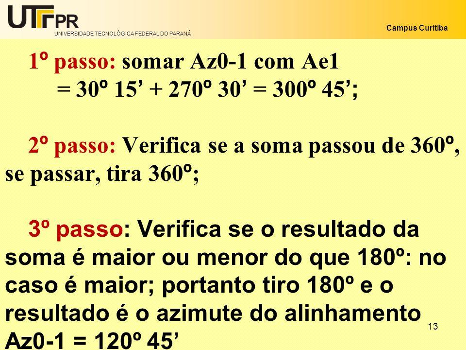1º passo: somar Az0-1 com Ae1