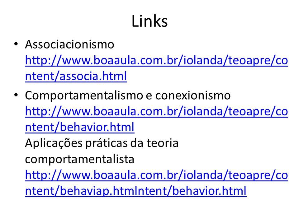 Links Associacionismo http://www.boaaula.com.br/iolanda/teoapre/content/associa.html.