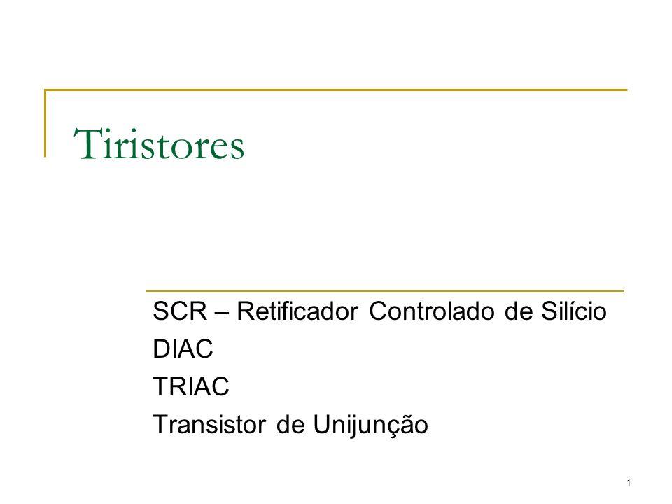 Tiristores SCR – Retificador Controlado de Silício DIAC TRIAC
