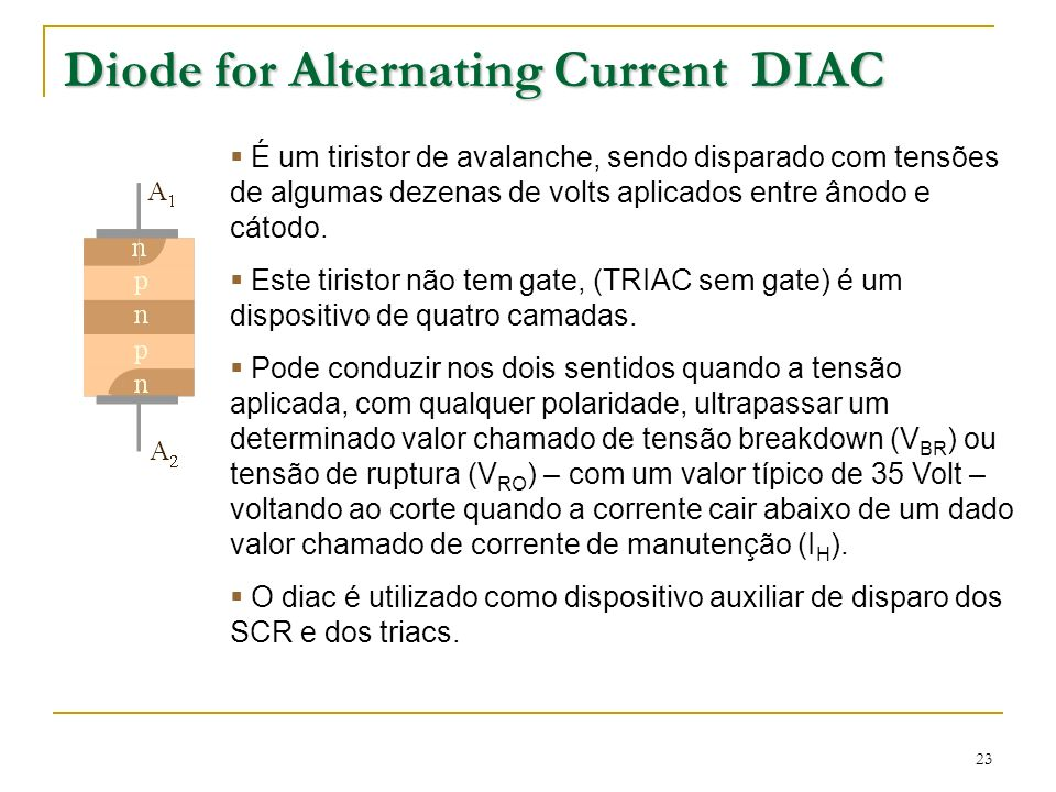 Diode for Alternating Current DIAC
