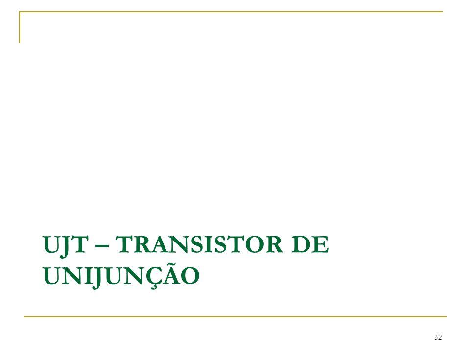 UJT – TRANSISTOR DE UNIJUNÇÃO