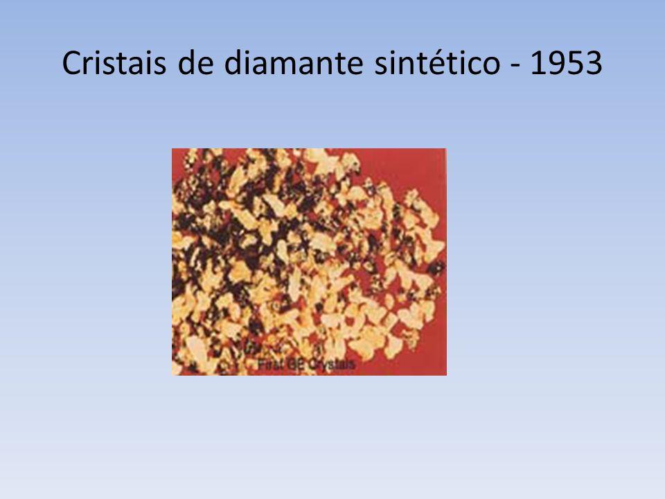 Cristais de diamante sintético - 1953