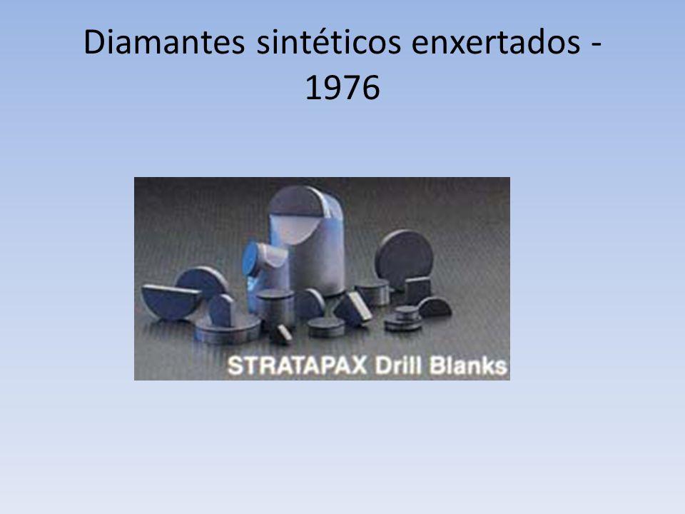 Diamantes sintéticos enxertados - 1976