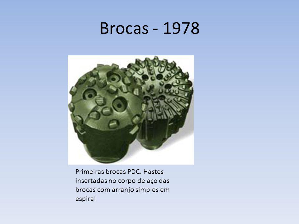Brocas - 1978 Primeiras brocas PDC. Hastes