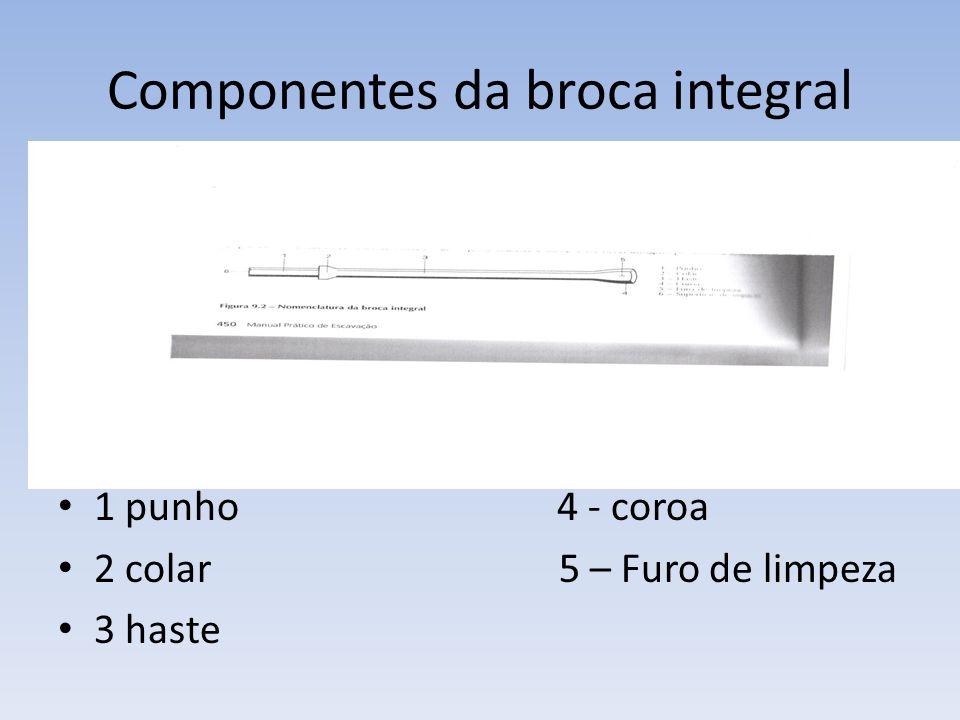 Componentes da broca integral