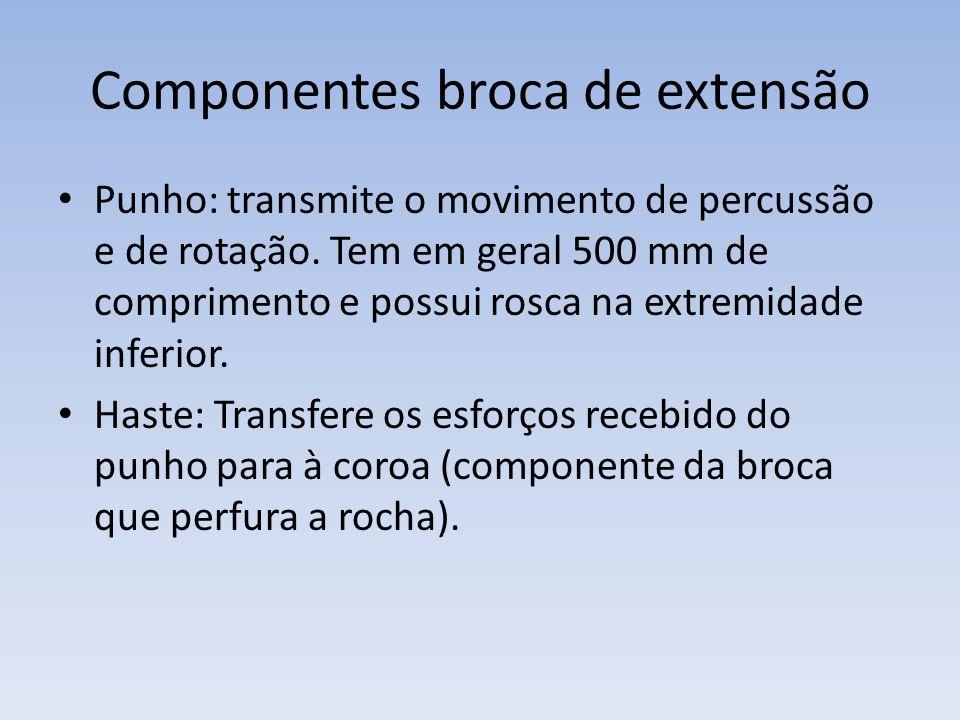 Componentes broca de extensão