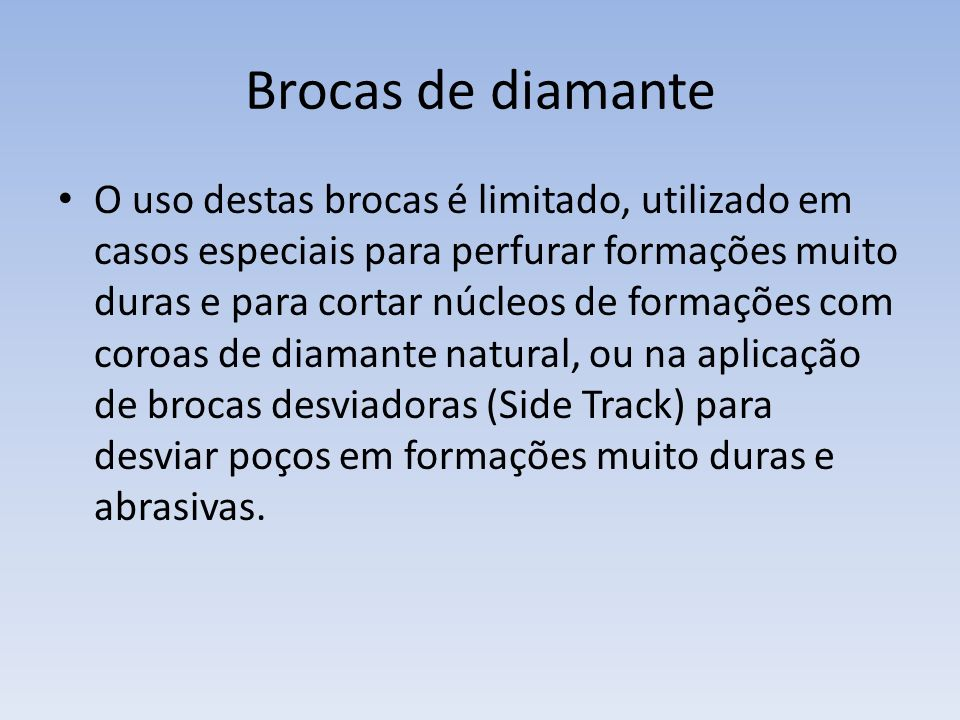 Brocas de diamante