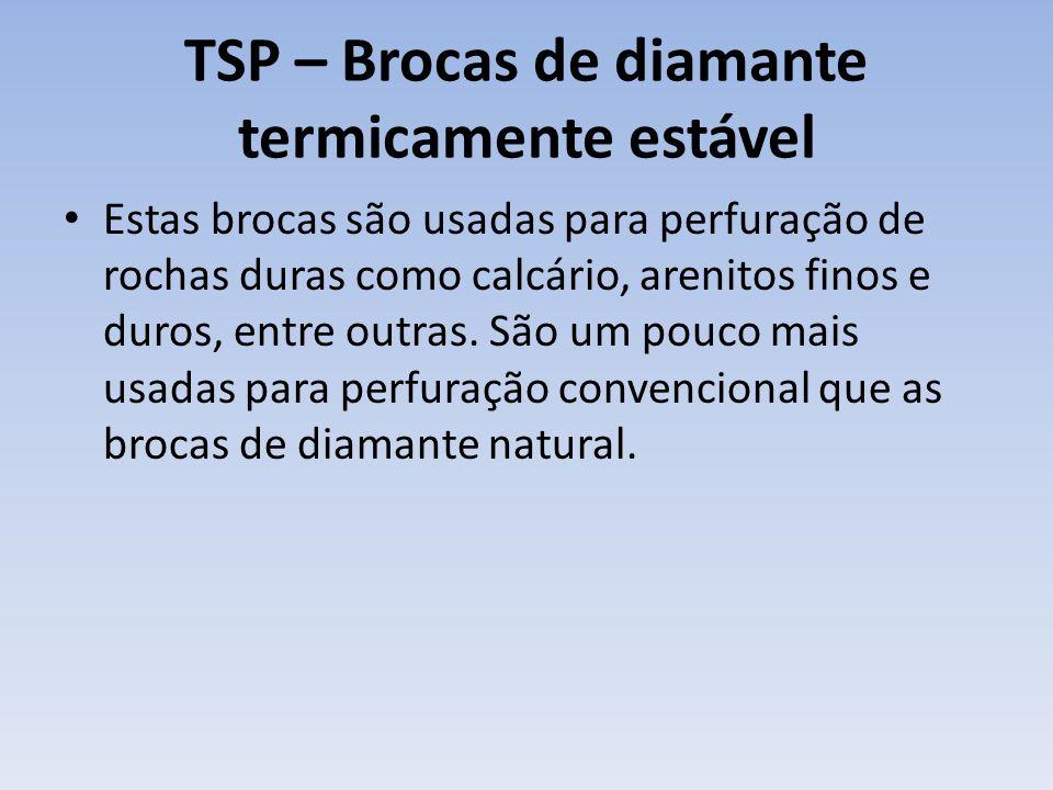TSP – Brocas de diamante termicamente estável