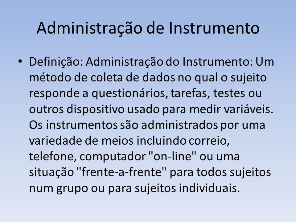 Administração de Instrumento