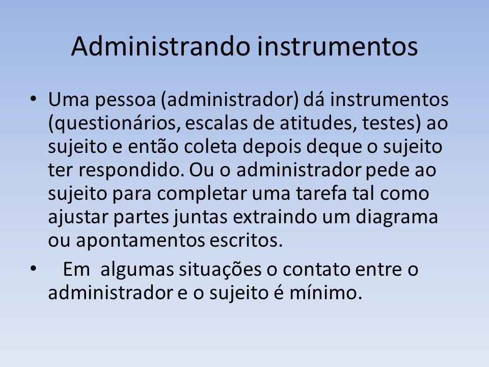Administrando instrumentos