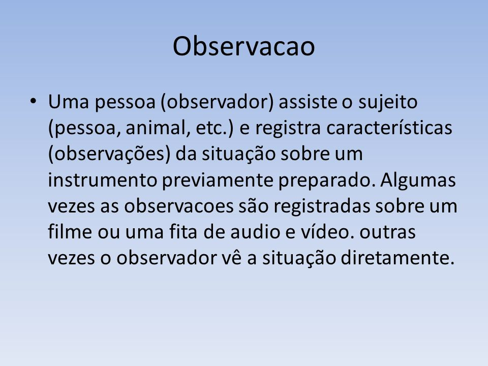 Observacao