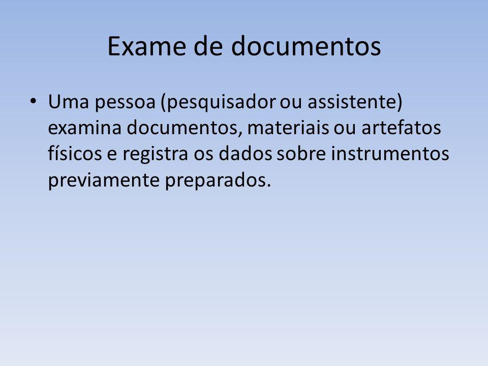 Exame de documentos
