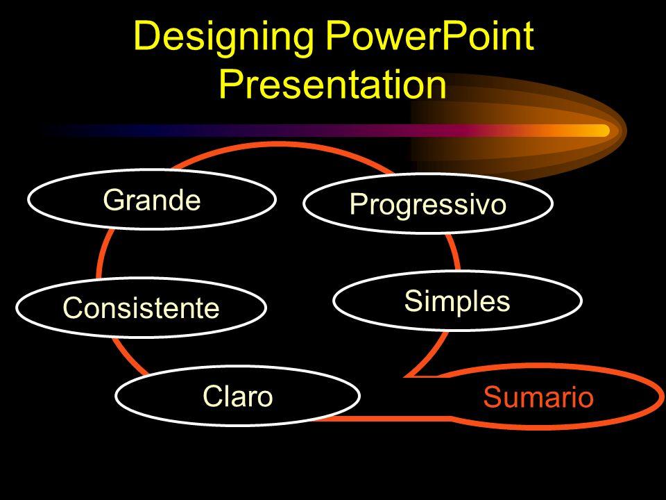 Designing PowerPoint Presentation