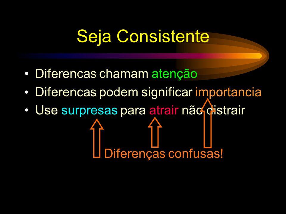 Seja Consistente Diferencas chamam atenção
