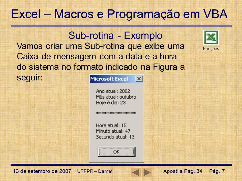 Sub-rotina - Exemplo