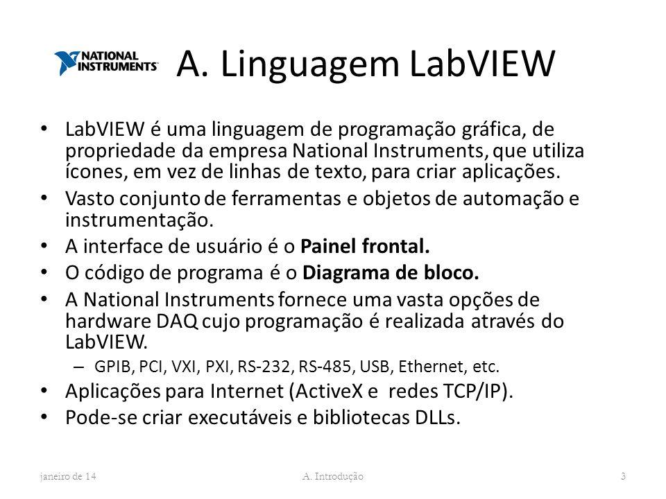 A. Linguagem LabVIEW