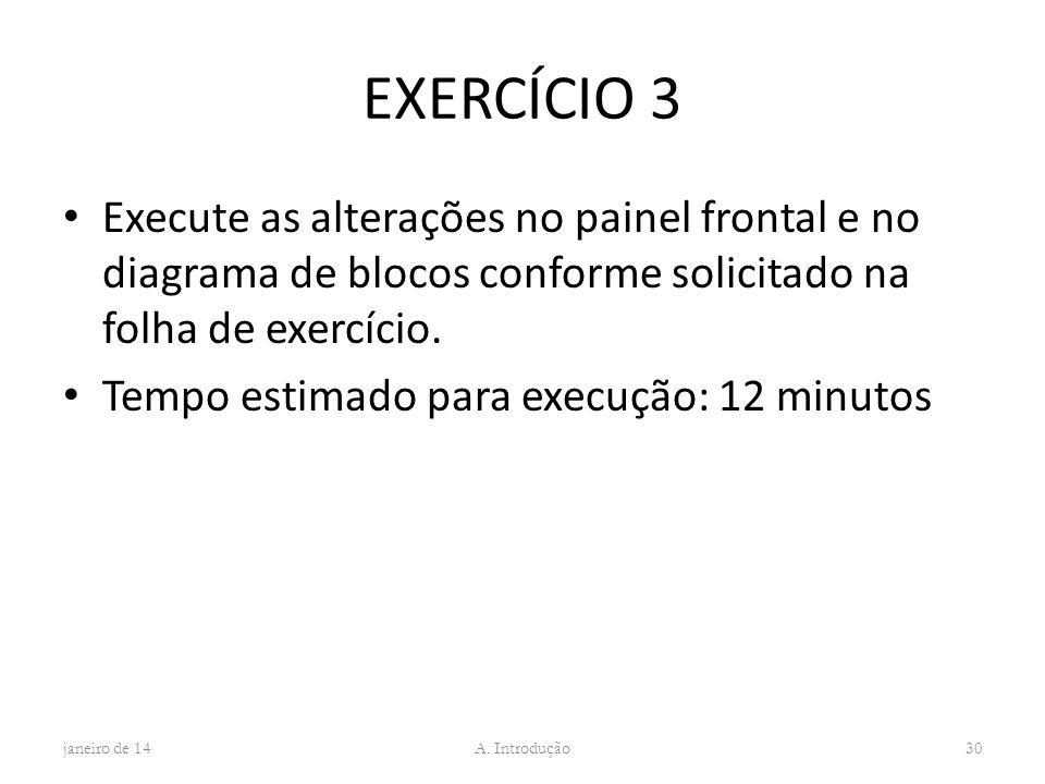 EXERCÍCIO 3 Execute as alterações no painel frontal e no diagrama de blocos conforme solicitado na folha de exercício.