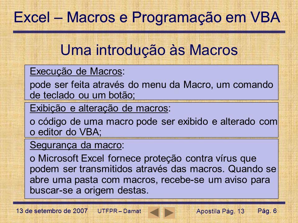 Uma introdução às Macros