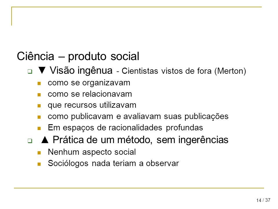 Ciência – produto social