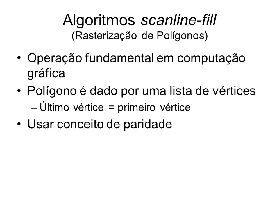 Algoritmos scanline-fill (Rasterização de Polígonos)