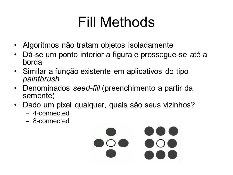 Fill Methods Algoritmos não tratam objetos isoladamente