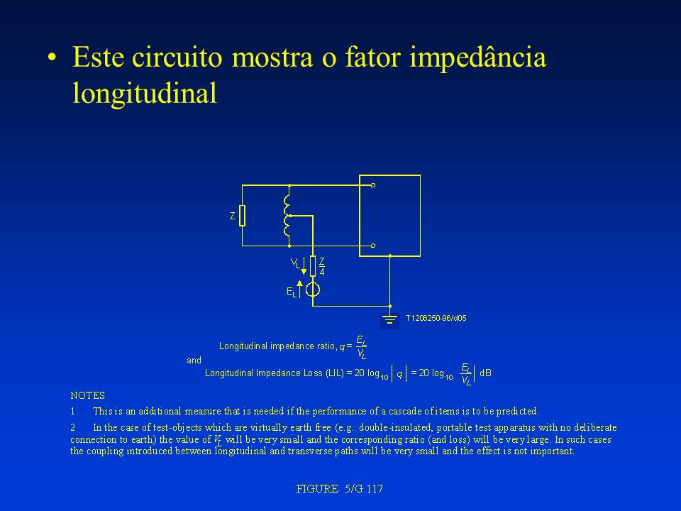 Este circuito mostra o fator impedância longitudinal